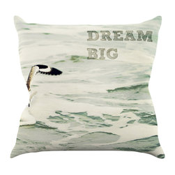 """Kess InHouse - Robin Dickinson """"Dream Big"""" Ocean Bird Throw Pillow (18"""" x 18"""") - Rest among the art you love. Transform your hang out room into a hip gallery, that's also comfortable. With this pillow you can create an environment that reflects your unique style. It's amazing what a throw pillow can do to complete a room. (Kess InHouse is not responsible for pillow fighting that may occur as the result of creative stimulation)."""