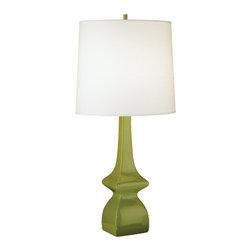 Robert Abbey - Robert Abbey Jayne Ascot White Table Lamp 213 - Artichoke Glazed Ceramic