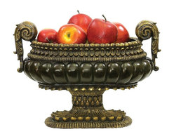 Sterling Lighting - Mediterranean Centerpiece Bowl - Made from composite. 17 in. L x 10 in. W x 12 in. H (11.95 lbs.)