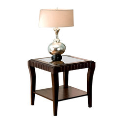 Standard Furniture - Standard Furniture Malibu 22 Inch End Table in Rich Merlot - Quality veneers over wood products and select solids used throughout. Group may contain some plastic parts. Rich merlot color finish. Surfaces clean easily with a soft cloth.