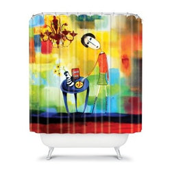 DENY Designs Robin Faye Gates Pastel Art Shower Curtain - If you're looking to take your bathroom in a new and exciting direction, look no further than the DENY Designs Robin Faye Gates Pastel Art Shower Curtain. The designer print features artwork that speaks volumes and leaps right off of the woven polyester. This American-made shower curtain is sure to make showering fun again.About DENY DesignsDenver, Colorado based DENY Designs is a modern home furnishings company that believes in doing things differently. DENY encourages customers to make a personal statement with personal images or by selecting from the extensive gallery. The coolest part is that each purchase gives the super talented artists part of the proceeds. That allows DENY to support art communities all over the world while also spreading the creative love! Each DENY piece is custom created as it's ordered, instead of being held in a warehouse. A dye printing process is used to ensure colorfastness and durability that make these true heirloom pieces. From custom furniture pieces to textiles, everything made is unique and distinctively DENY.