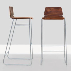 Form Bar Stool - Really minimal barstools for a modern kitchen. Available in three different wood veneers.
