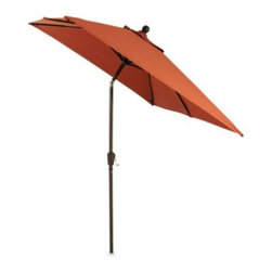 Ace Evert - 11.5-Foot Rectangular Aluminum Umbrella in Cinnamon - Relax in the shade in style with this outdoor umbrella with an aluminum post and adjustable angle options.
