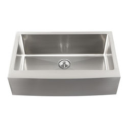 Schon - Schon Undermount 16-Gauge Stainless Steel Apron Front Single Bowl Kitchen Sink - Bring a touch of modern sophistication to your kitchen decor with this beautiful stainless steel undermount sink. This single-bowl sink is constructed of durable, striking 16-gauge stainless steel.