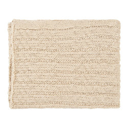 Ivory Cable Throw - Ivory Cable Throw