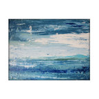 """Abstract Seascape Original Canvas Contemporary/Modern Painting, 30"""" x 40"""" - Dimensions: 30x40 with a profile of approx 1''"""