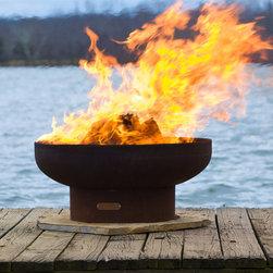 Fire Pit Art - Fire Pit Art - Low Boy Classic Fire Pit (FPA-LB) - Low minimalist retro fire pit.