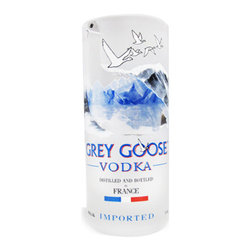 Bottles & Wood - Grey Goose Vodka Shot Glass - These shot glasses are made from upcycled Grey Goose bottles. They are reclaimed from local bars and restaurants and are hand-cut and finished to make an ideal and unique shot glass.