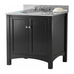 Foremost - Foremost Haven 24 Inch Vanity in Espresso Finish - Foremost Haven 24 Inch Vanity in Espresso Finish