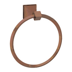 Mission Arts Towel Ring - Oil Rubbed Bronze - This Arts & Crafts inspired towel ring is both stylish and functional. Complete your contemporary bathroom with other pieces from the Mission Arts Collection.