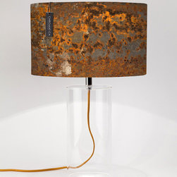 Table Lamp Oxidation. - The natural corrosion of metals and its different colors.