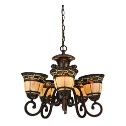 "Meyda Tiffany - Meyda Tiffany 125117 20""W Ilona 5 Arm Chandelier - Meyda Tiffany 125117 20""W Ilona 5 Arm Chandelier"