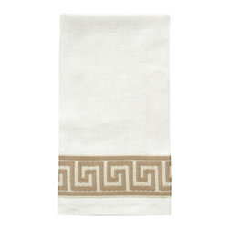 Dransfield and Ross - Greek Key Jacquard Guest Towel S/2 - Greek Key Jacquard Guest Towel S/2