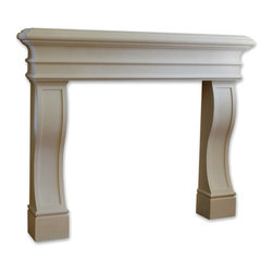 Distinctive Mantel Designs - Monterrey Mantel, Sahara, 78 - Grand without being imposing, the Monterrey mantel makes a perfect focal point for a room without taking up too much space.  Clean lines, smooth curves, and a simple coffered detail give the Monterrey a beautiful, timeless look.  Perfect for any transitional space.