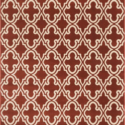 "Loloi Rugs - Loloi Rugs Goodwin Collection - Rust, 3'-10"" x 5'-7"" - Go bold with the big graphic patterns featured in the Goodwin Collection. Power loomed in Turkey of 100% polypropylene, expect amazing color fastness from the resilient fiber and unparalleled durability from the densely packed yarns. Available in scatter, regular, round, and runner sizes."