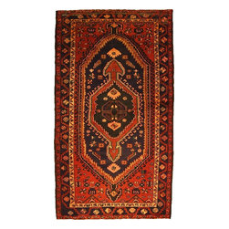 eSaleRugs - 4' 4 x 7' 11 Khamseh Persian Rug - SKU: 110896822 - Hand Knotted Khamseh rug. Made of 100% Wool. 40-50 Years(Semi Antique).