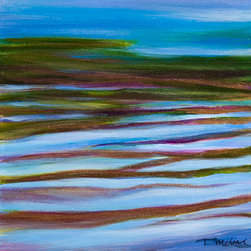 """Nature'S Gift 1"" (Original) By Teresa Mccue - This Painting Derives From My Observation The Movement Of Water In A Nearby River."