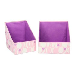 Household Essentials Accessory Bins - Geo Print - Pink with Purple - 2 pk.