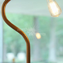 Salvaged Wood base Table Lamp -