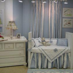 Sterling Anabella - Ocean Blue Beverly Hills Crib Bedding Collection - Ocean Blue Beverly Hills Crib Bedding Collection