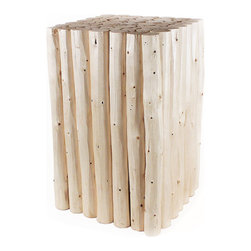 Pfeifer Studio - Pine Sapling Cube Table - A cool side table you can be proud of. Sticks never looked as good as they do in this cube table. You're going green and it doesn't even hurt.