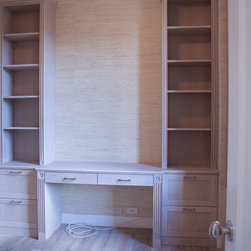 Built-Ins/Entertainment Units - - Custom Desk and Built book Shelves