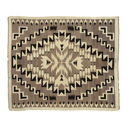 Consigned Navajo Rug w/ Feathers - Masterpiece of composition and craft this Crystal Trading post antique Navajo tapestry is stunning.