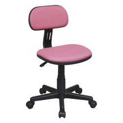 """Office Star Products - Task Chair in Pink - Task Chair in Pink; One Touch Pneumatic Seat Height Adjustment; 360 Swivel; Heavy Duty Nylon Base with Dual Wheel Carpet Casters; Dimensions: 16.5""""W x 19.75""""D x 34.25""""H"""