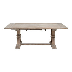 Z Gallerie - Archer Dining Table - A distressed trestle table is an absolute must in a farmhouse setting. Plus, it will translate really well into a whole assortment of styles.