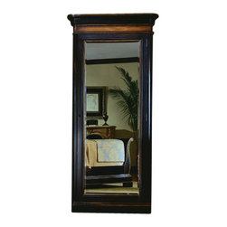 Hooker Furniture - Floor Mirror with Jewelry Storage - This magic mirror has a trick up its sleeve. Behind its gorgeous, dark wood exterior is a hidden, felt-lined compartment where you can hang your necklaces, rings and other favorite jewels. Make space for it in your walk-in closet or bedroom so you can dress and accessorize in style.