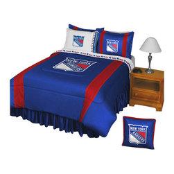 Store51 LLC - NHL New York Rangers Comforter Pillowcase Hockey Bedding, Twin - Features: