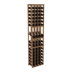 Wine Racks America - 4 Column Display Row Wine Cellar Kit in Redwood, Oak Stain + Satin Finish - Make your best vintage the focal point of your wine cellar. Four of your best bottles are presented at 30° angles on a high-reveal display. Our wine cellar kits are constructed to industry-leading standards. Youll be satisfied with the quality. We guarantee it.