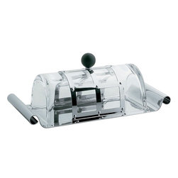 Alessi - Alessi Michael Graves Butter Dish - Take toast to the next level with this Michael Graves-designed butter dish. This stainless steel-glass mix offers a modern yet fancy way to share your tasty spread.