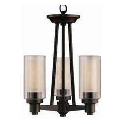 """Kichler - Kichler 3743OZ Circolo 3 Light Olde Bronze Semi Flush Mount 3743OZ - Smooth and tailored, this compact, 3-light, semi flush fixture combines contemporary design with European flair. Clear cylindrical glass globes with Umber-Etched centers repeat the circular theme extending the artistry. A stylish Olde Bronze(R) finish completes the look. 60-W. Max. (M) (T10 lamp required) Dia. 12"""", Height 15"""".Olde Bronze finish UL ListedBackplate Dimensions: 5.00"""" Dia Body Height: 15"""" Bulb Included: No Bulb Type: T10 Collection: Circolo Diffuser Description: Clear Cylinder With Umber Etched Center Finish: Olde Bronze Finish Group: Bronze Material: Steel Number Of Light: 3 Primary Max Watt: 60 Watt Socket 1 Base: Medium Socket 1 Max Wattage: 60 Style: Casual Type: Ceiling Lights UL Listed: Yes Weight: 5.5 LBS Width: 12"""""""