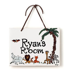 Jamie's Painting & Design - Hand Painted Name Plaque - Safari - Hand Painted Name Plaque - Safari