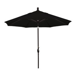 California Umbrella - 9 Foot Sunbrella Aluminum Crank Lift Push Tilt Patio Umbrella, Black Pole - California Umbrella, Inc. has been producing high quality patio umbrellas and frames for over 50-years. The California Umbrella trademark is immediately recognized for its standard in engineering and innovation among all brands in the United States. As a leader in the industry, they strive to provide you with products and service that will satisfy even the most demanding consumers.