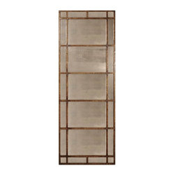 Grace Feyock - Grace Feyock Avidan Traditional Rectangular Mirror X-P 23331 - This mirror features a narrow metal frame finished in heavily antiqued gold leaf with antiqued style mirrors. May be hung either horizontal or vertical.