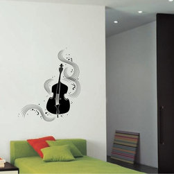 StickONmania - Violin with Lines Sticker - A cool vinyl decal wall art decoration for your home  Decorate your home with original vinyl decals made to order in our shop located in the USA. We only use the best equipment and materials to guarantee the everlasting quality of each vinyl sticker. Our original wall art design stickers are easy to apply on most flat surfaces, including slightly textured walls, windows, mirrors, or any smooth surface. Some wall decals may come in multiple pieces due to the size of the design, different sizes of most of our vinyl stickers are available, please message us for a quote. Interior wall decor stickers come with a MATTE finish that is easier to remove from painted surfaces but Exterior stickers for cars,  bathrooms and refrigerators come with a stickier GLOSSY finish that can also be used for exterior purposes. We DO NOT recommend using glossy finish stickers on walls. All of our Vinyl wall decals are removable but not re-positionable, simply peel and stick, no glue or chemicals needed. Our decals always come with instructions and if you order from Houzz we will always add a small thank you gift.