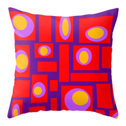 Crash Pad Designs - Modern Mid Century Inspired Accent Pillow - A fun pillow can change an entire room. Style your room with this mod & playful pillow. On a sofa, a chair, or bed it's sure to make you smile. Double sided print pillow, made from 100% spun polyester poplin fabric w/ a hidden zipper closure & a polyester fill insert.  Original Crash Pad Designs fabric.