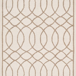 "Loloi Rugs - Loloi Rugs Stephanie Collection - Ivory / Taupe, 2'-3"" x 7'-6"" - An instant upgrade for rooms ranging from modern to sophisticated, the bold and tonal Stephanie Collection is hooked in India of 100% wool. Each design is featured on a high-low pile for a sense of dimension and textural interest. Available in 6 sizes including a scatter and runner."