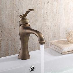 Bathroom Sink Faucets - Centerset Antique Brass Bathroom Faucet--faucetsmall.com