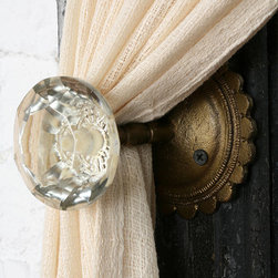 Doorknob Curtain Tieback - This clever tie back adds antique style to any room in the house. It's like accessorizing your windows and drapes some jewelry.