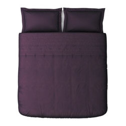 IKEA of Sweden - TANJA BRODYR Duvet cover and pillowsham(s) - Duvet cover and pillowsham(s), purple