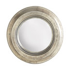 Versatile Silvery Mirror - This mirror would be perfect in a room that has a few industrial accents, like metal chairs or stools. It would also work well in a room with brushed nickel or pewter hardware.
