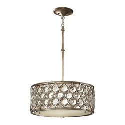 Feiss - Feiss F2568/3BUS Lucia 3 Light Burnished Silver Chandelier - Finish: Burnished Silver