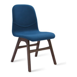 Bryght - Ava Teal Fabric Walnut Dining Chair - Liven up your space with these heart warming Ava dining chairs. Available in a variety of vibrant colors, the Ava chair with its soft contours is sure to woo anyone with an eye for design.