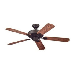 Westinghouse - Outdoor Ceiling Fans and Light: Westinghouse Willow Breeze 52 in. Indoor/Outdoor - Shop for Lighting & Fans at The Home Depot. With its oil rubbed bronze finish and 5 dark cherry blades, this Westinghouse Willow Breeze 52 in. Indoor/Outdoor Oil Rubbed Bronze Ceiling Fan will add style and robust circulation to any room or outdoor space. Ideal for rooms over 400 sq. ft. (20 ft. x 20 ft.) or for porches, verandahs, and gazebos, this fan features a 153 mm x 15 mm silicon steel motor with triple capacitor for powerful, quiet air circulation. 3 fan speeds (high/medium/low) and a reversible switch helps keep you comfortable. Run the fan counterclockwise in the summer to keep your space cooler and clockwise in the winter to recirculation warm air from the ceiling. The ceiling fan provides airflow of up to 5,290 CFM. It is rated to operate at 58 watts at high speed, giving it an airflow efficiency rating of 91 CFM/watt. (As a comparison, 49 in. to 60 in. ceiling fans have airflow efficiencies ranging from approximately 51 to 176 CFM/watt at high speed.) The Willow Breeze comes with everything you need for installation, including a 3/4 in. x 4 in. (D x L) down rod and a 54 in. lead wire. It is backed by a lifetime motor warranty and a 2-year warranty on all other parts.