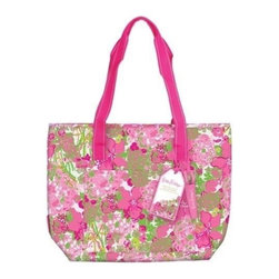 Lilly Pulitzer - Lilly Pulitzer Insulated Beach Cooler, Beach Rose - Make your beachside cocktail packable and portable in our Lilly Pulitzer Insulated cooler. These water resistant cotton tote is moisture-resistant and easy to wipe clean or machine wash. This tote bags have a micro-fiber EVA lining and a zipper closure to hold all of your items securely.