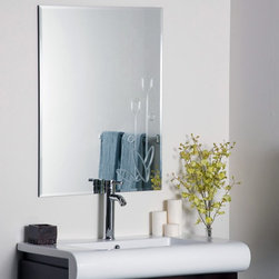 Decor Wonderland - Flora Frameless Wall Mirror - 23.6W x 31.5H in. Multicolor - SSM1043 - Shop for Bathroom Mirrors from Hayneedle.com! Visualize yourself in front of the stylish Flora Frameless Wall Mirror and you'll find yourself reveling in its contemporary charm. Since this mirror has no frame you'll find that it will go perfectly with any color scheme in any room. The beveled edges add depth and definition to the mirror adding to its updated elegance while the etched floral motif on the bottom right hand corner enhances its refined elegance. Made of one solid piece of etched glass this mirror features a strong .19-inch-thick glass and double coated silver backing with seamed edges for lasting use. The ready-to-hang mirror comes complete with mounting hardware. Wipe clean with a damp cloth. Use only water or window cleaner when cleaning this mirror.About Decor Wonderland of USDecor Wonderland US sells a variety of living room and bedroom furniture mirrors lamps home office necessities and decorative accessories. Decor Wonderland strives to add variety to their selection so that every home is beautifully and perfectly decorated to suit their customer's unique tastes.