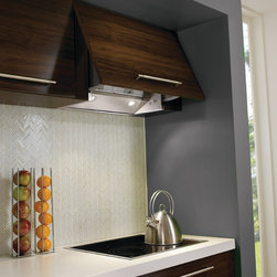Integrated Range Hoods - Jewel tilt out hood with custom front by Faber